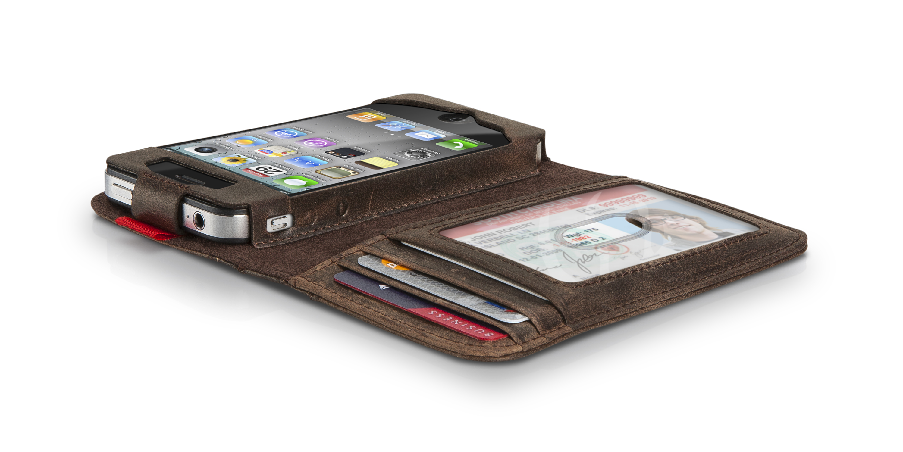 Old Leather Book Iphone Cover : Is it a book an iphone or wallet yes pastorgear